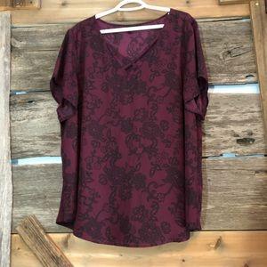 Torrid lace print blouse size 3X